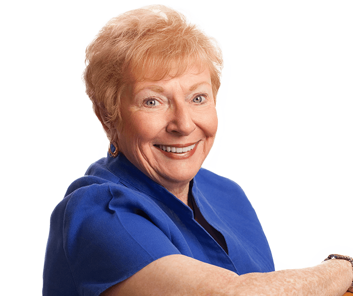 Smiling older woman with flawless teeth